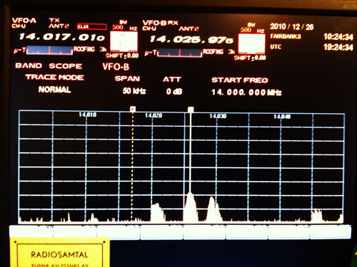 Spectrum Scope VFO B 50 kHz span